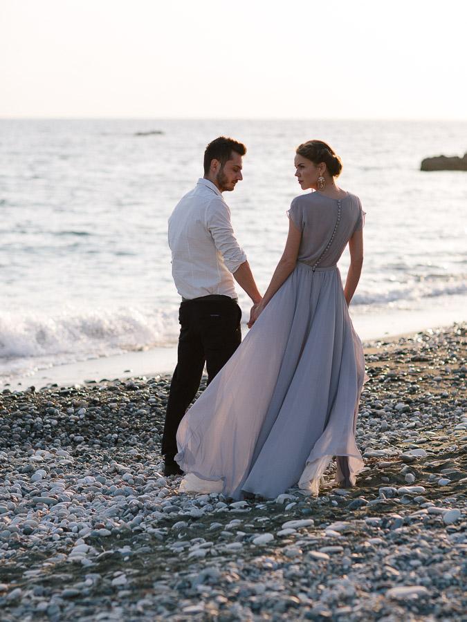Fotoshooting am see, Hochzeit auf dem Strand