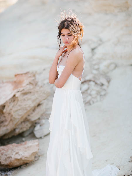 Hochzeitskleid, Fotoshooting, Fotoshooting an den Felsen