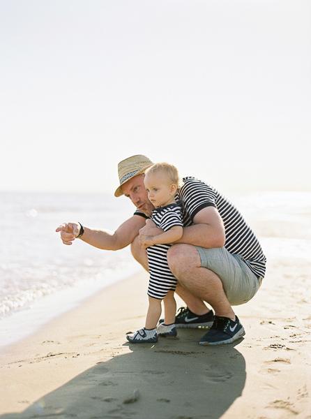 Fotoshooting Vater mit dem Kind